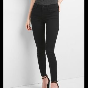Gap 1969 true skinny ankle ever black jeans